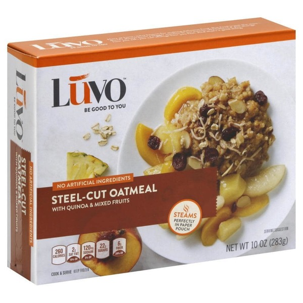 Luvo Steel-Cut Oatmeal with Quinoa & Mixed Fruits