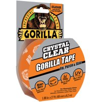"""Gorilla Crystal Clear Tape, 1.88"""" x 27 ft Roll"""
