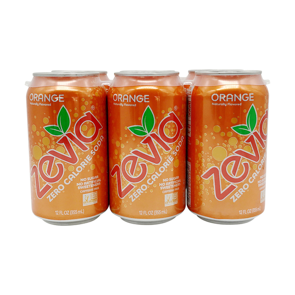 Zevia Orange Zero Calorie Cola, 6 pk, 12 fl oz