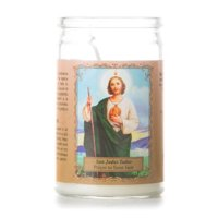 Religious Short Unscented Jar Candle, Prayer to Saint Jude, Single