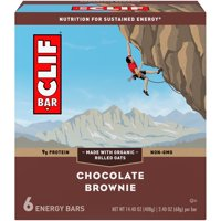 CLIF Bar Energy Bars, Chocolate Brownie, 9g Protein Bar, 6 Ct, 2.4 oz (Packaging May Vary)