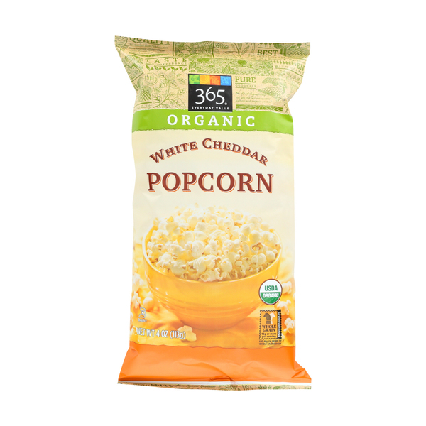 365 everyday value® Popcorn, White Cheddar, 4 Oz.