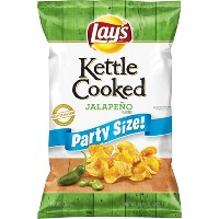 Lay's Jalapeño Kettle Cooked Chips Party Size - 14oz