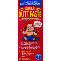 Boudreaux's Butt Paste Ointment, Diaper Rash, Maximum Strength, Box