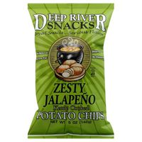 Deep River Snacks Potato Chips, Kettle Cooked, Zesty Jalapeno