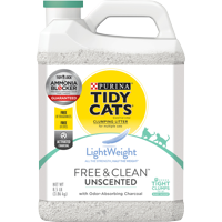 Purina Tidy Cats Light Weight, Low Dust, Clumping Cat Litter, LightWeight Free & Clean Unscented, Multi Cat Litter (Multiple Sizes)