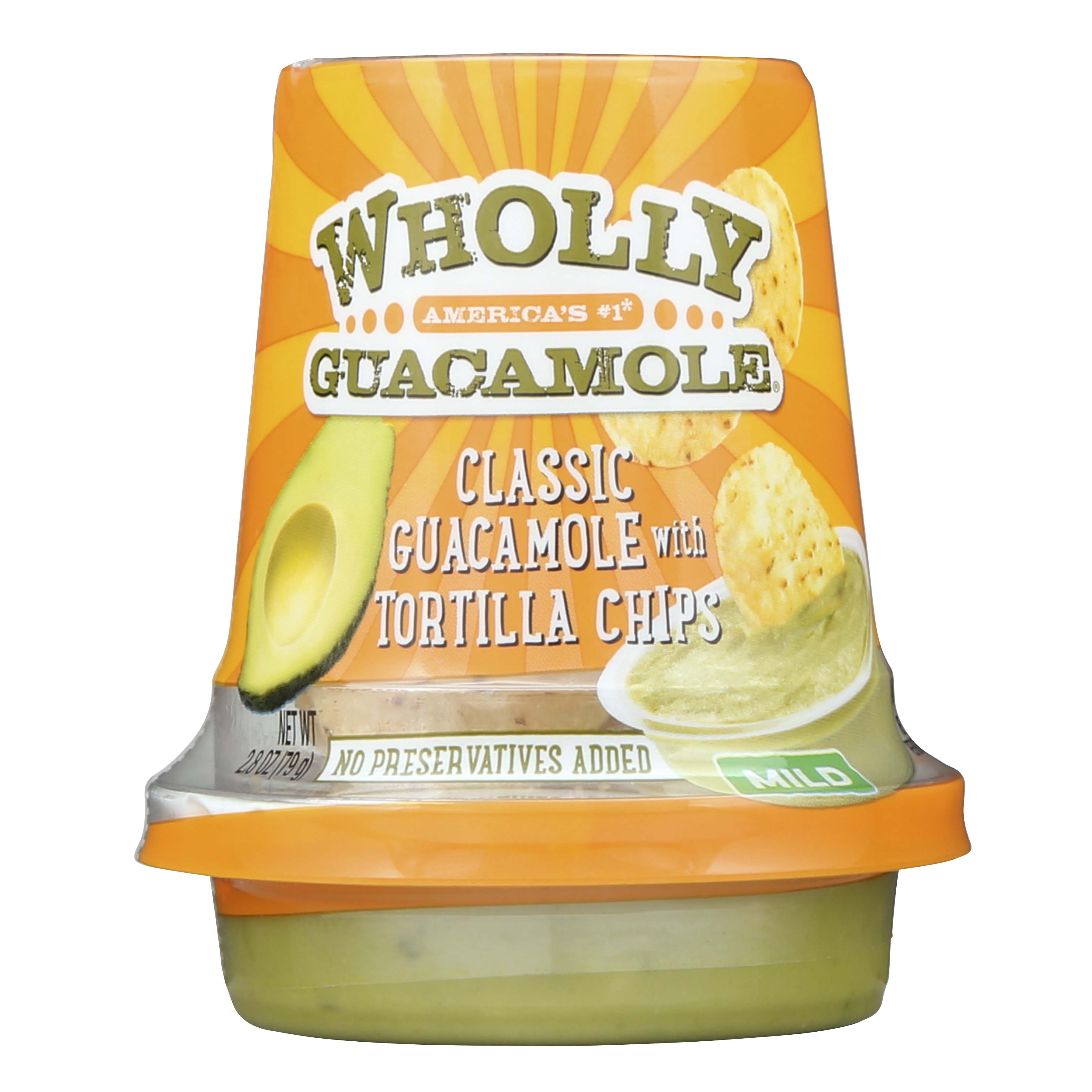 Wholly Guacamole Classic Snack Cup with Tortilla Chips, 2.8 oz