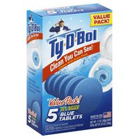 Ty D Bol Toilet Cleaner, Blue Tablets, Value Pack!