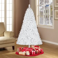 Holiday Time Unlit 6.5' Jackson Spruce White Artificial Christmas Tree