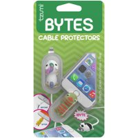 Tzumi Bytes Silicone Universally-Fitting Cable Protector 2-Pack: Unicorn and Dinosaur
