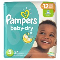 Pampers Baby-Dry Extra Protection Diapers, Size 5, 24 Ct