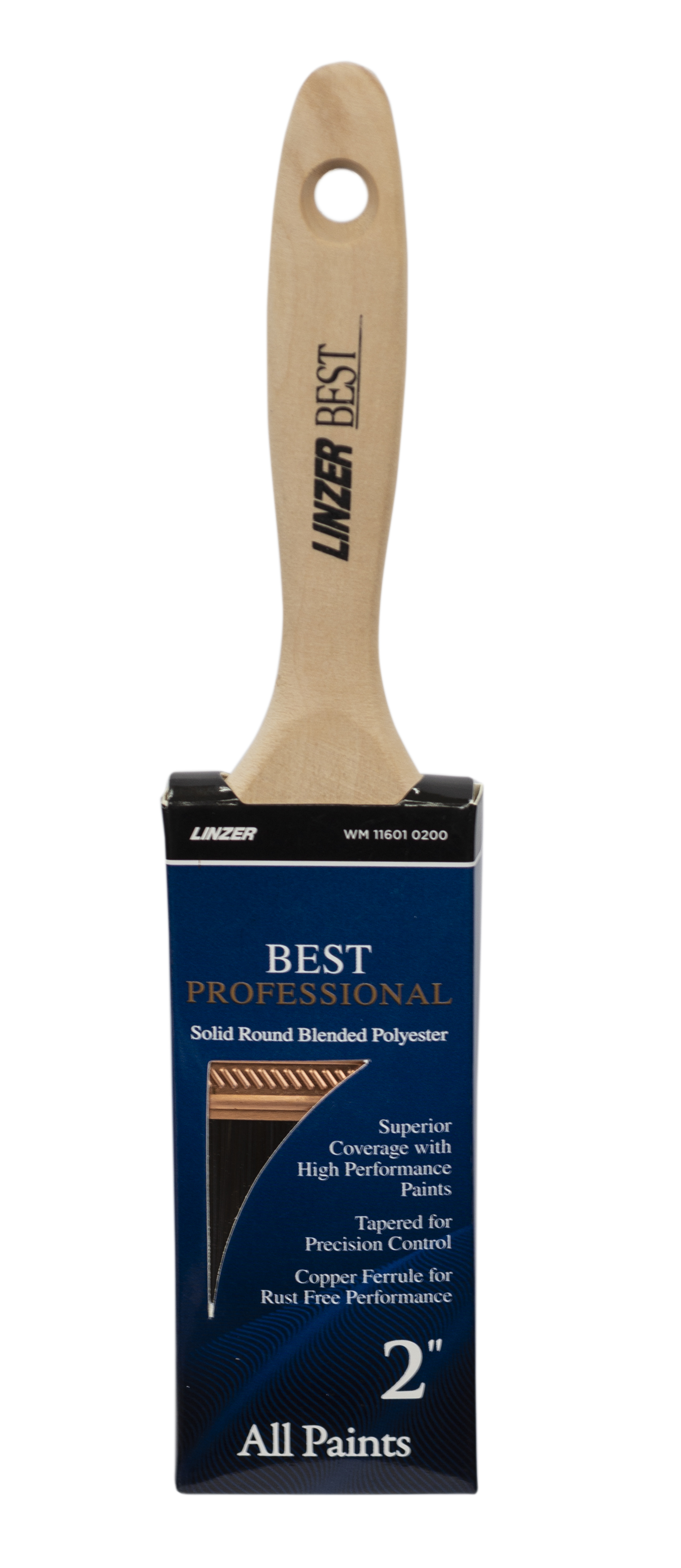 Linzer BEST Professional 2 in. Polyester Flat Paint Brush