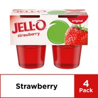 Jell-O Ready to Eat Strawberry Gelatin, 4 ct - 13.5 oz Package