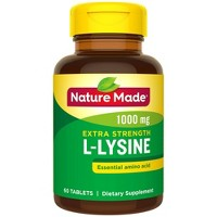 Nature Made Extra Strength L - Lysine 1000 mg Tablets - 60ct