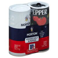 Morton McCormick Iodized Salt & Pepper - 2 CT