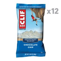 CLIF Bar Energy Bars, Chocolate Chip, 9g Protein Bar, 12 Ct, 2.4 oz (Packaging May Vary)