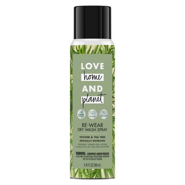 Love Home & Planet Vetiver & Tea Tree Re-Wear Dry Spray - 6.76oz