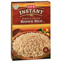 H-E-B Instant Whole Grain Brown Rice