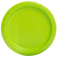 "7"" Paper Dessert Plates, Lime Green, 70ct"