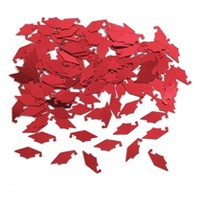 Graduation Mortarboard Red Confetti
