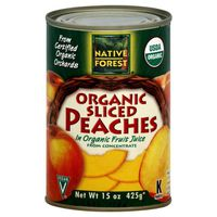 Native Forest Peaches, Organic, Sliced