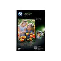 HP Everyday Photo Paper - Glossy photo paper - 8 mil 4 in x 6 in - 200 g/m2 - 50 sheet(s) - for Deskjet 3054A J611; Envy 100 D410; Photosmart 55XX, 65XX B211, Premium Fax C410
