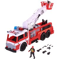 Kid Connection Light & Sound Fire Truck Play Set with Working Water Pump, 10 Pieces