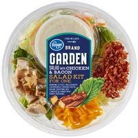 Kroger Garden Salad With Chicken & Bacon Salad Kit For One