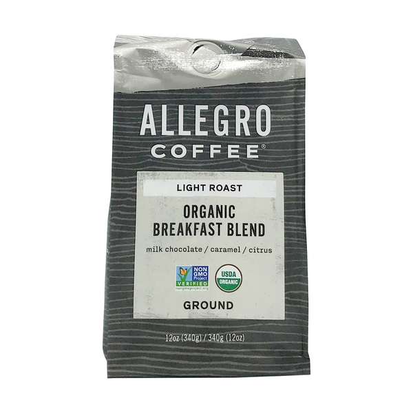 Allegro® Organic Breakfast Blend Ground Coffee, 12 oz