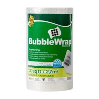 Duck Original Bubble Wrap Cushioning, 12 in. x 30 ft., Clear