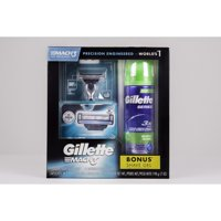 Gillette Mach3 Regimen Pack, Contains 1 Handle, 3 Cartridges, and 1 Shave Gel