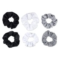 Scunci Mixed Texture Scrunchies, 6 count