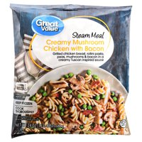 Great Value Frozen Steam Meal, Creamy Mushroom Chicken with Bacon, 24 oz