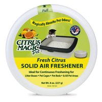 Citrus Magic Pet Fresh Citrus Odor Absorbing Solid Air Freshener, 8 Oz.