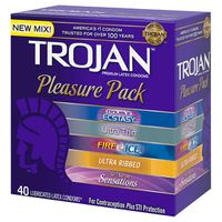 Trojan Pleasure Pack Condoms, 40 ct