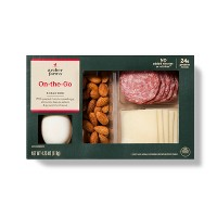 On-The-Go Snack Box With Boiled Eggs, Almonds, Genoa Salami & Provolone Cheese - Archer Farms™