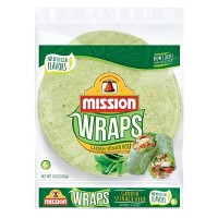 Mission Large Garden Spinach and Herb Wrap Tortilla - 6ct