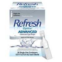 Refresh Optive Advanced Triple-Action Relief Eye Drop - 30 Single Use Containers