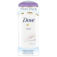 Dove Fresh 24-Hour Invisible Solid Antiperspirant & Deodorant Stick - 2.6oz