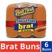 Ball Park Tailgaters Brat Buns, 6 count, 16 oz