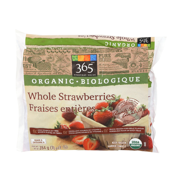 365 everyday value® Organic Whole Frozen Strawberries, 10 oz