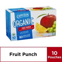 Capri Sun Organic Fruit Punch Juice Drink , 10 ct - Pouches, 60.0 fl oz Box