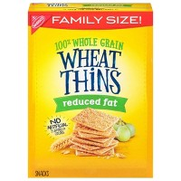 Wheat Thins Reduced Fat Crackers - Family Size - 14.5oz