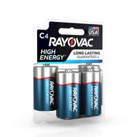 Rayovac High Energy Alkaline, C Batteries, 4 Count