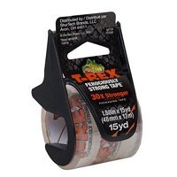 T-Rex® 1.88 In. x 15 Yd. Packing Tape With Dispenser, Clear, 1-Count