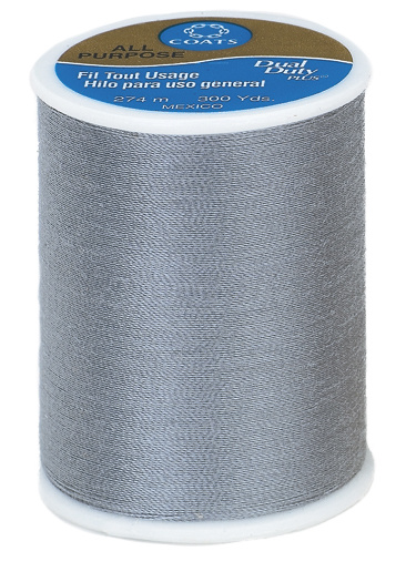 Coats & Clark All Purpose Light Slate Thread, 300 Yd.