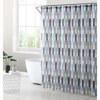 Martel Geometric Shower Curtain Set, 13 Piece