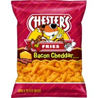 Chester's Bacon Cheddar Fries Corn & Potato Snacks, 5.25 Oz.