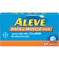 Aleve Back & Muscle Pain Reliever/Fever Reducer Naproxen Sodium Tablets, 220 mg, 50 Ct
