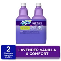 Swiffer WetJet Multi-Purpose Floor Cleaner Solution with Febreze Refill, Lavendar Vanilla and Comfort Scent, 1.25 Liter (Pack of 2)